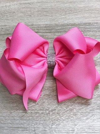 Laços de cabelo para menina fixados em Presilhas Bicos de pato  Rosa Choque   3757715aeff