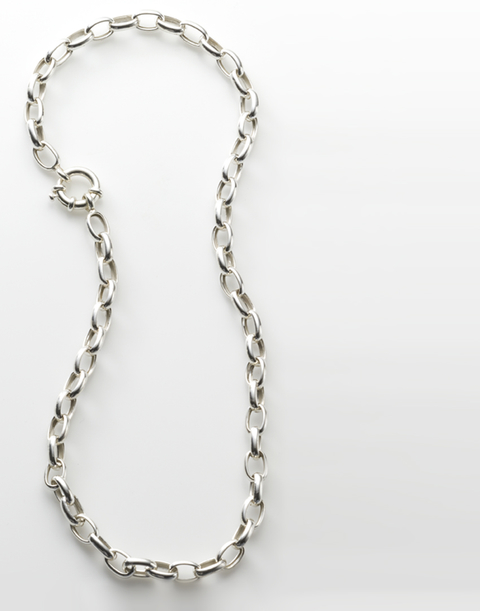 Collar Forcet de Plata 900 Mediano Media Caña de 45 cm de largo