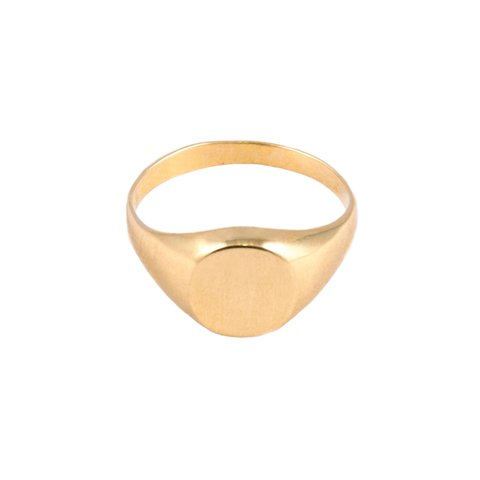 Anillo Sello Oro 18 Kilates Amarillo #ANI0276