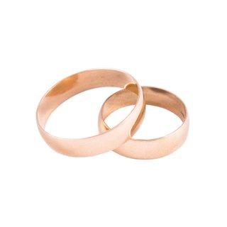 comprar buscar auténtico moda atractiva Alianzas de oro 18 KIlates Italiana 5gr el par #ALI0095