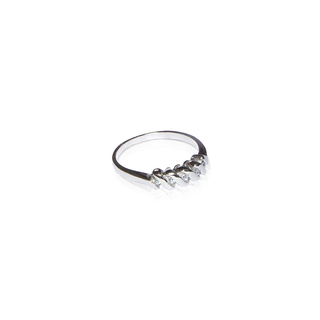 Anillo Intercalado cubic y oro #ANI0259 en internet
