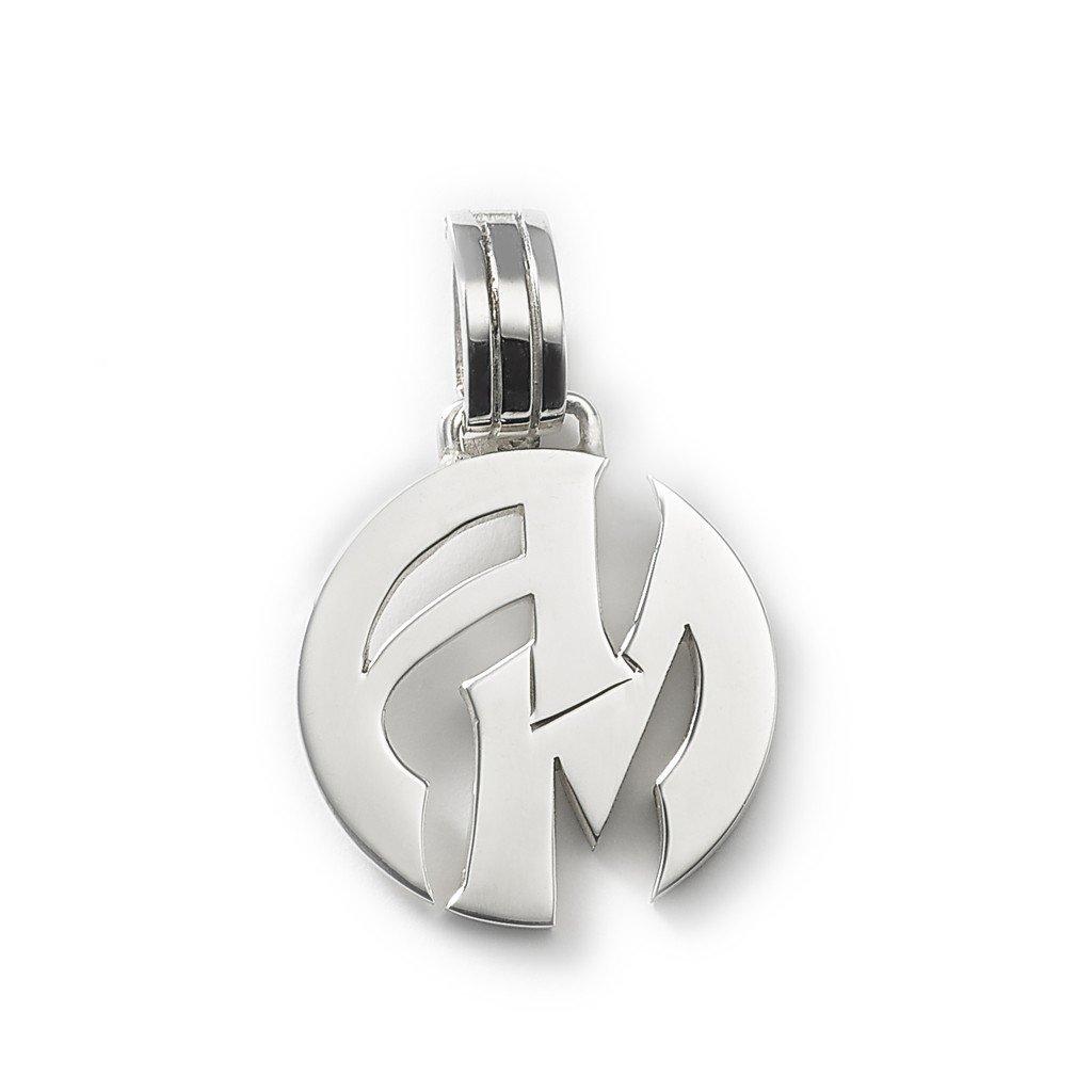 d174fa7f331c ... Medalla de plata 925 redonda personalizada con dos iniciales  MED0152.  Oferta