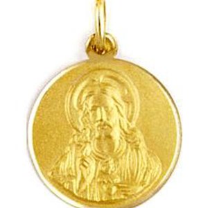 Medalla de oro 18 Kilates Sagrado Corazon 17mm #MED0250