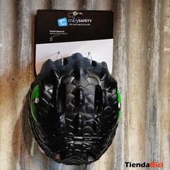 CRAZY SAFETY CASCO DRAGON BLACK + TIMBRE DRAGON BLACK - TiendaBici Argentina