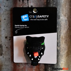 CRAZY SAFETY CASCO DRAGON BLACK + TIMBRE DRAGON BLACK - tienda online