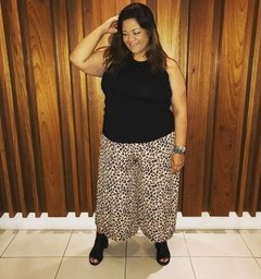 PantaCourt Plus Size Animal Print