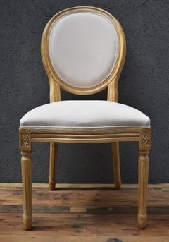 SILLA ROUND FRENCH DE ROBLE Y LINO