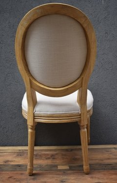 SILLA ROUND FRENCH DE ROBLE Y LINO en internet