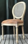ART PJC695 SILLA VINTAGE FRENCH ROUND LEATHER