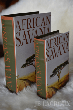 BOOK BOX SET X 2 AFRICAN SAVANA - comprar online
