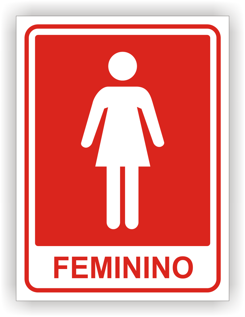 Placa de Sinalização Banheiro Feminino -> Banheiro Feminino Outback