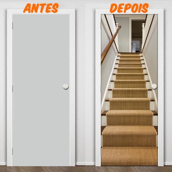 Artesanato Para Vender Passo A Passo ~ Adesivo de Porta escada