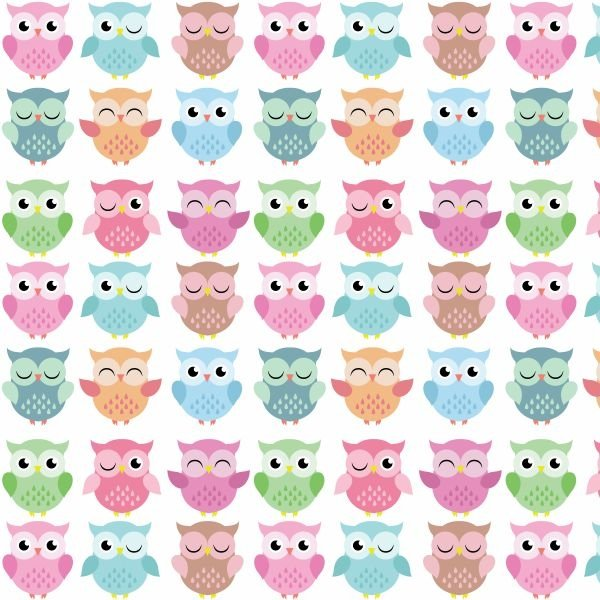 Papel de parede infantil corujinhas for Papel para empapelar infantil
