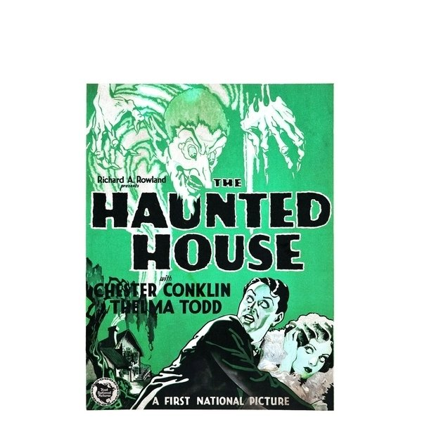 Poster Adesivo Vintage Haunted House na internet