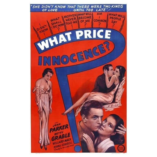 Poster Adesivo Vintage What Price Innocence? na internet
