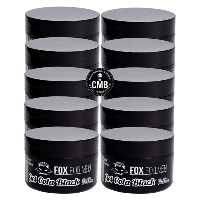 GEL COLA BLACK FOX FOR MEN 10 UN DE 300G