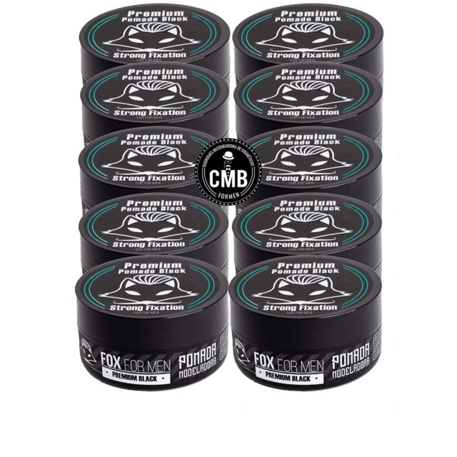Pomada PREMIUM BLACK Fox For Men 10 UN DE 150g