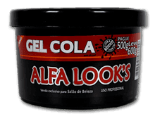Gel cola Alfa Look's 600gr