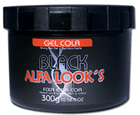Gel Cola Alfa Look's Black 300gr
