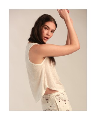 Musculosa Lisa Marfil - comprar online