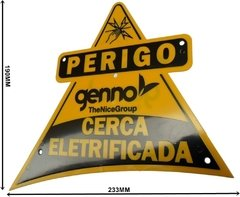 PLACA ADVERTENCIA FACE SIMPLES - GENNO