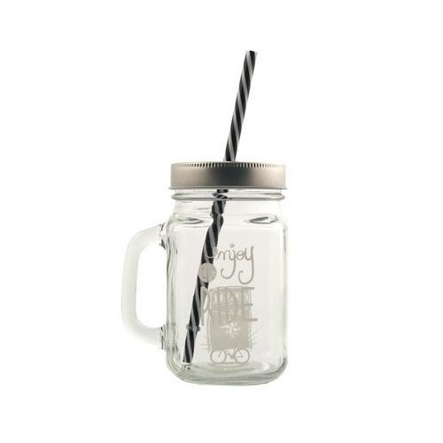 CANECA MASON JAR - Enjoy the Ride na internet
