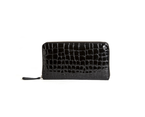 BILLETERA CROCO NEGRA
