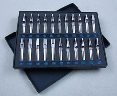 Set 22 Punteras Tatuaje Acero Inox Tatto Tips