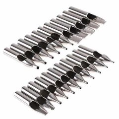 Set 22 Punteras Tatuaje Acero Inox Tatto Tips - Javilandia