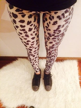 Leggings Animal Print B&W