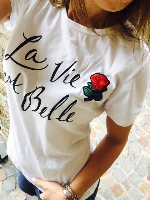 Remera Belle Rose