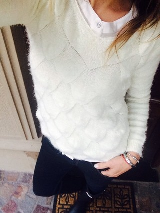 Sweater Escamitas (pelo de mono) - Ludmi