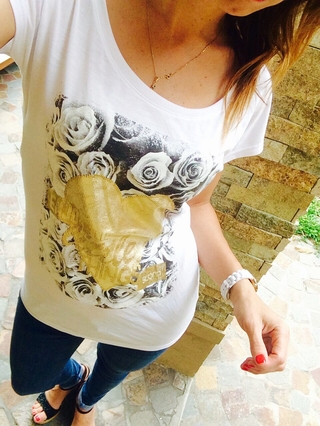 Remera Golden Heart