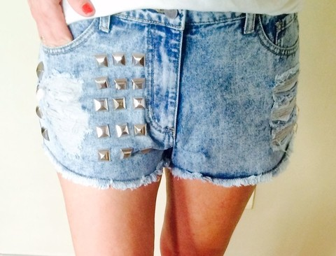 Short Denim Tachas