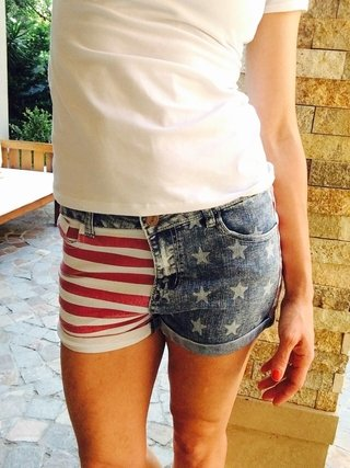 Short Denim Flag