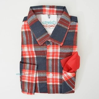 Camisa infantil caipira xadrez vermelha...