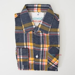 Camisa infantil caipira xadrez amarela e...