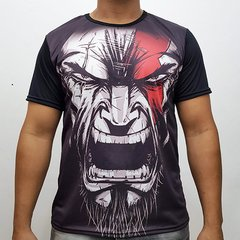 Camiseta digital god of war rosto