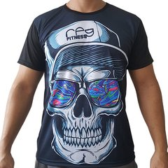 Camiseta Digital Dry-Fit Caveira com Boné