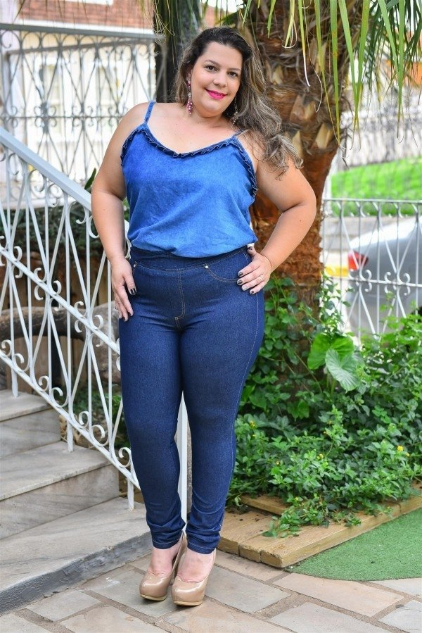 Calça Legging Jeans Plus Size Juliana