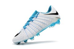 Chuteira Nike Hypervenom Phantom 3 Elite Campo Original Whithe Blue - Sport Shoes