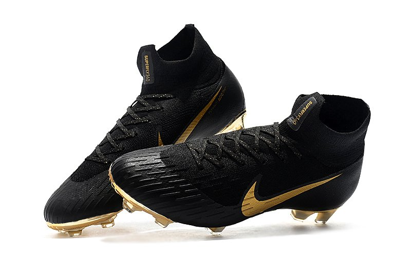 5100c70af4 Chuteira Nike Mercurial Superfly 360 Elite Campo Original Black+Golden