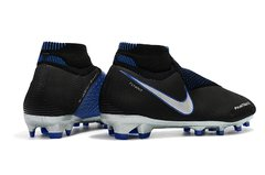 Chuteira Nike Phantom Vision Elite Campo Black+Blue Profissional - Sport Shoes