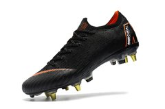 Chuteira Nike Mercurial Vapor XII Elite Trava Mista - (SG) Black Original - Sport Shoes