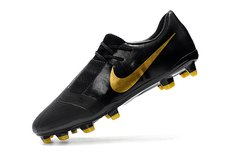 CHUTEIRA NIKE PHANTOM VENOM ELITE CAMPO BLACK+GOLDEN na internet