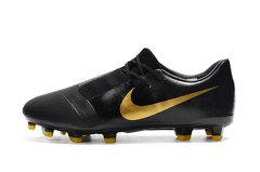CHUTEIRA NIKE PHANTOM VENOM ELITE CAMPO BLACK+GOLDEN - Sport Shoes