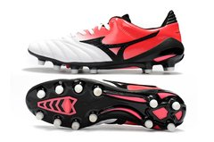 Chuteira Mizuno Morelia Neo 2 Made in Japan MD Profissional Couro de Canguru Red Whithe - Sport Shoes