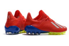 Chuteira Adidas X 18.1 Campo AG Red+Blue Profissional - Sport Shoes