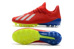 Chuteira Adidas X 18.1 Campo AG Red+Blue Profissional - loja online