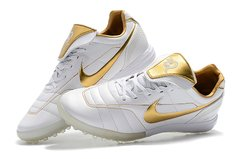 Chuteira Society Nike Tiempo Legend 7 R10 Elite TF Edition Limited White Gold